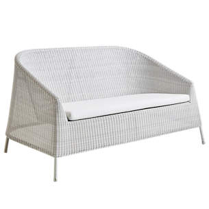 White/Grey Kingston 2 Seater Lounge Sofa