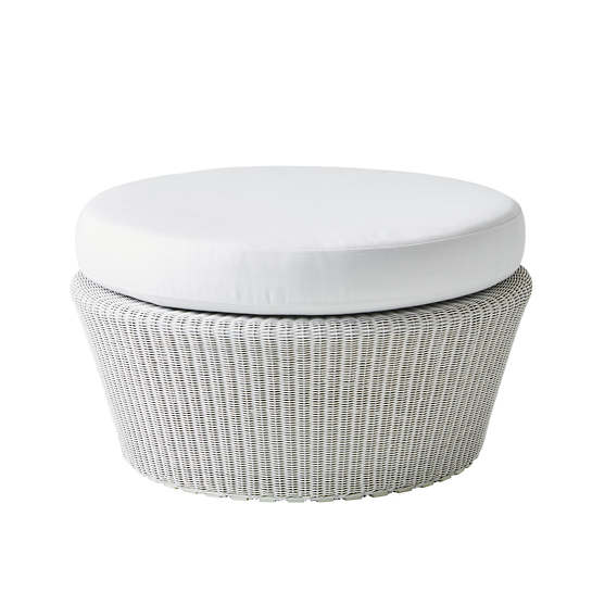 White/Grey Kingston Large Footstool