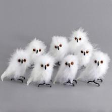 White Hoot Owl Small/Set of 8