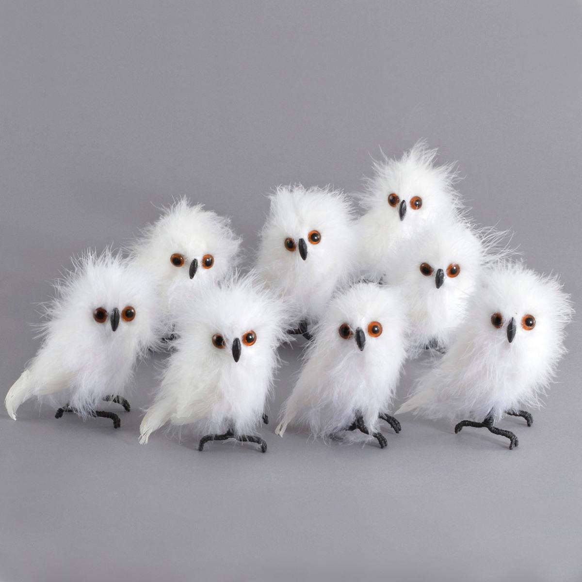 White Hoot Owl/Set Of 8