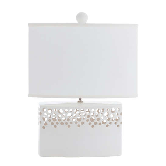White Lacey Brick Table Lamp