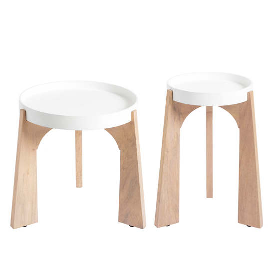 White Modular Side Table