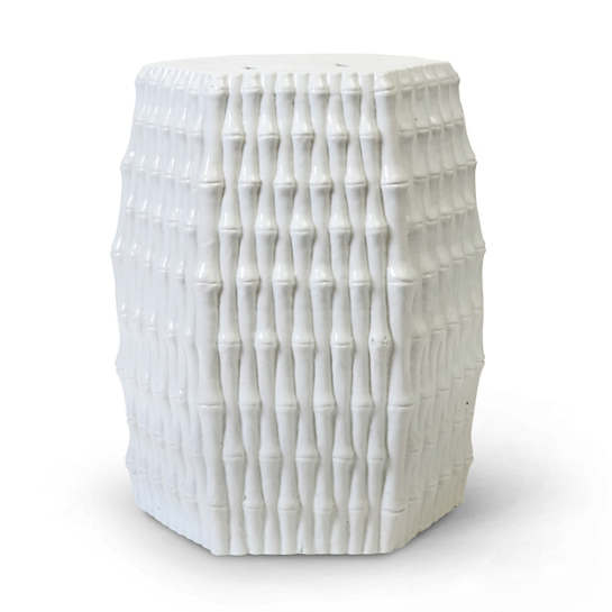 White Oasis Ceramic Garden Stool
