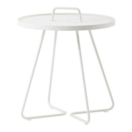 White On The Move Side Table