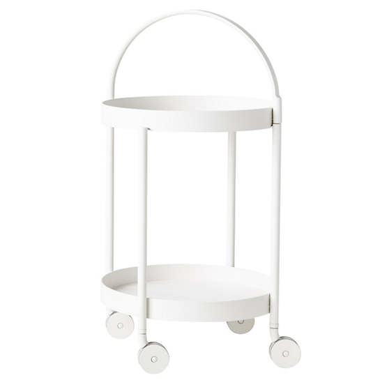 White Roll Trolley