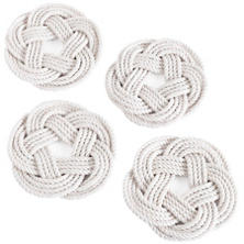 White Sailor Knot Coasters Set/4
