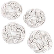 White Sailor Knot Coasters Set/4
