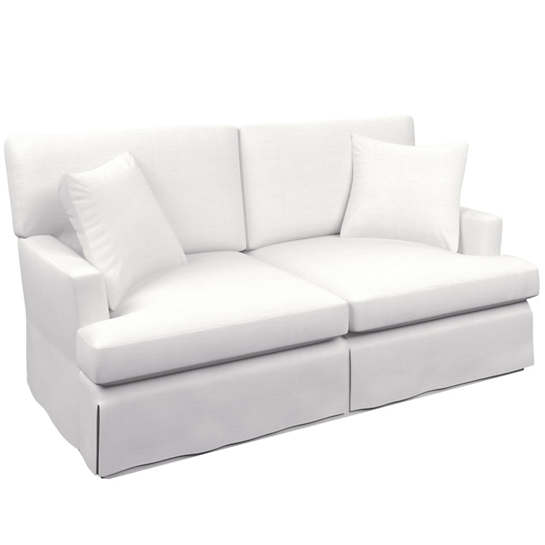 White Saybrook 2 Seater Slipcovered Sofa
