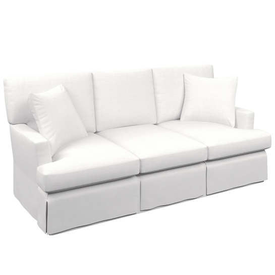 White Saybrook 3 Seater Slipcovered Sofa