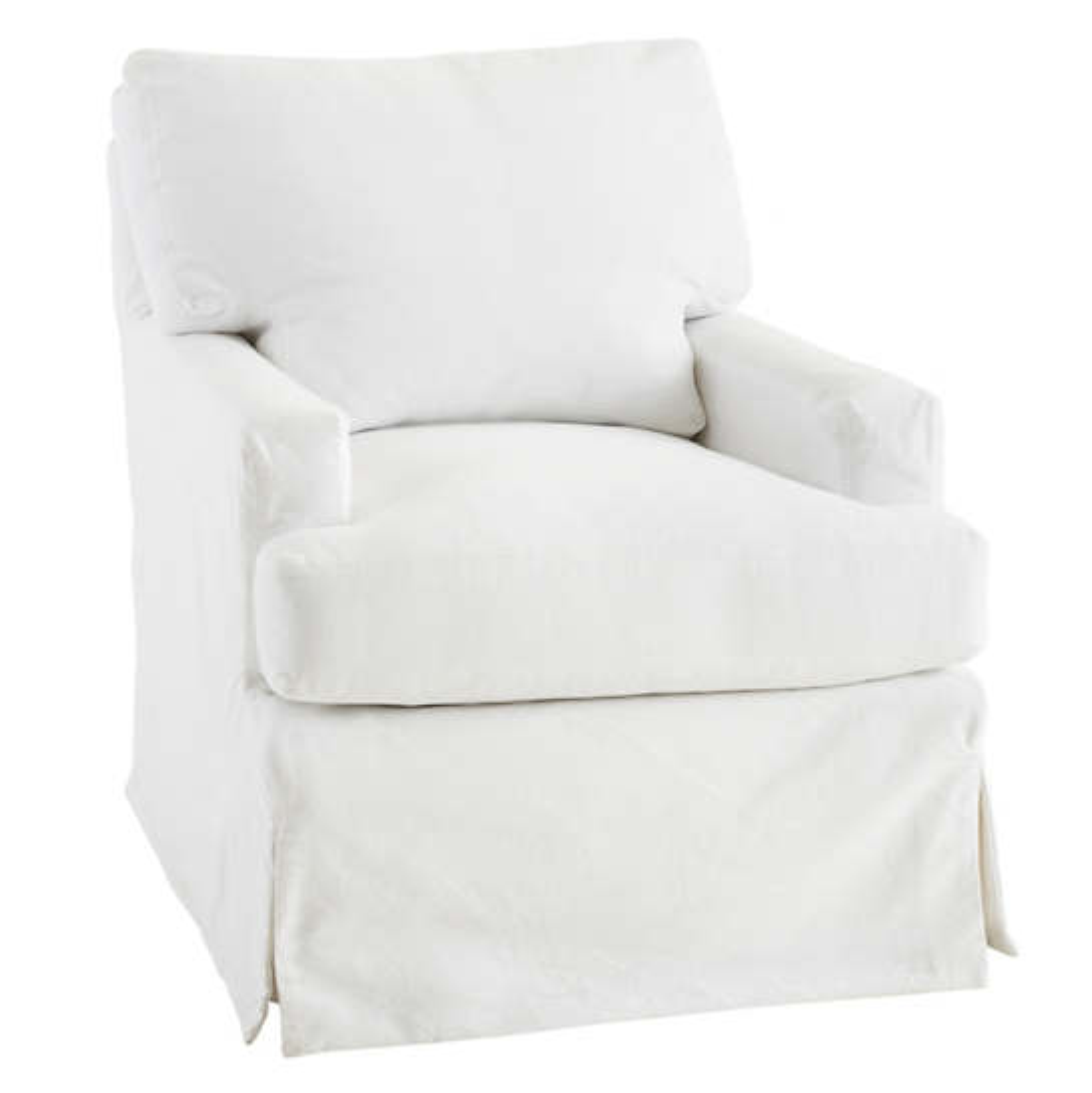 White Saybrook Slipcovered Chair