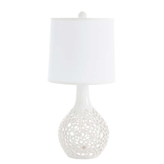 White Teardrop Lacey Table Lamp