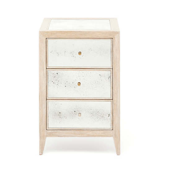Whitewashed Mia Single Nightstand
