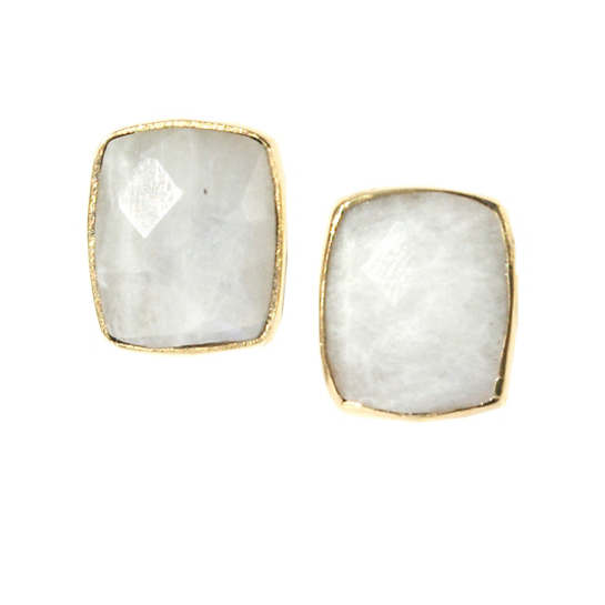 Whitten Moonstone Stud Earrings