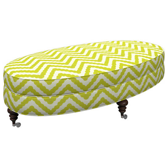 Wiggle Light Green Kendall Ottoman
