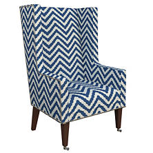 Wiggle Navy Neo-Wing Chair