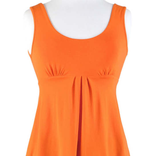 Willow Knit Empire Tank Top Tangerine