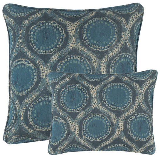 Willowleaf Linen Blue Decorative Pillow
