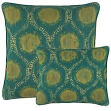 Willowleaf Linen Green Decorative Pillow