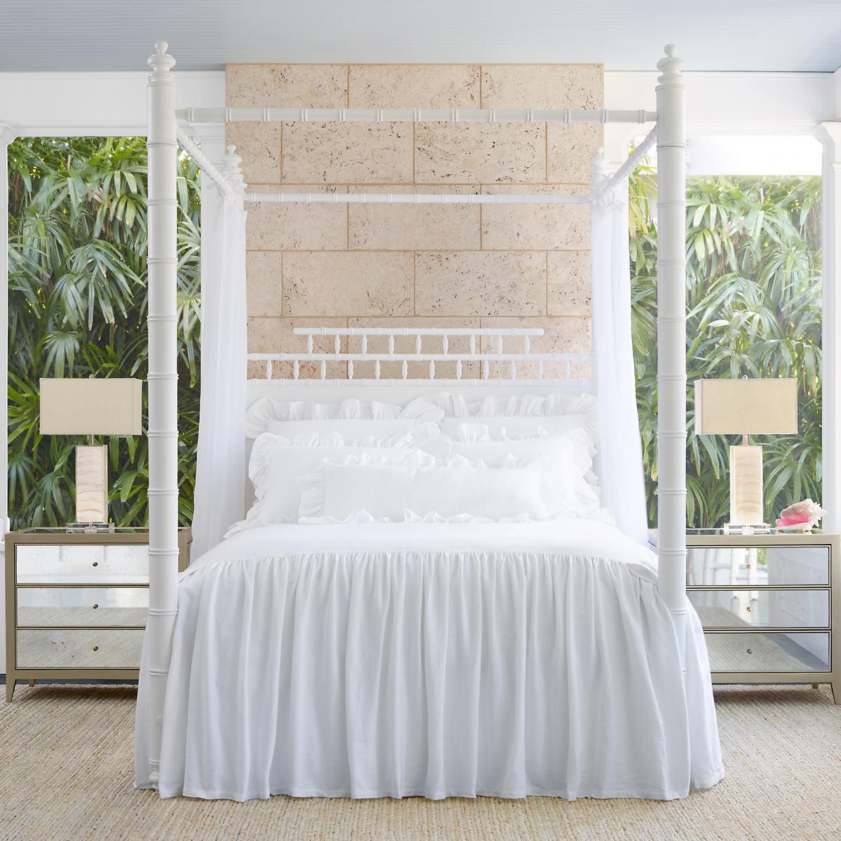 Wilton White Cotton Bedspread