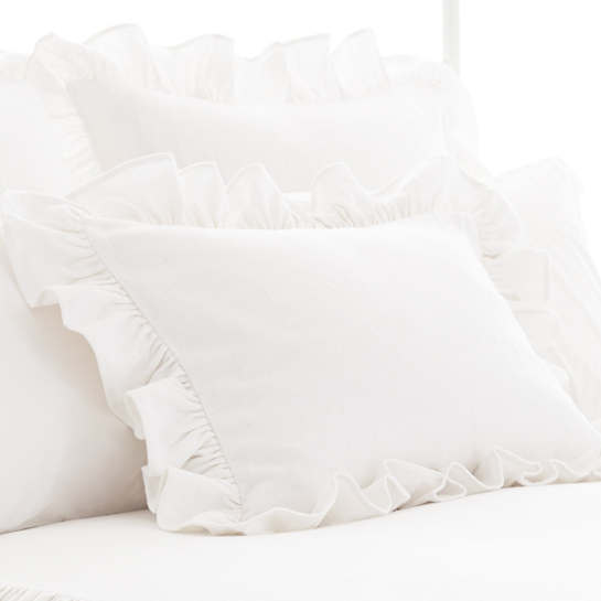 Wilton White Cotton Sham
