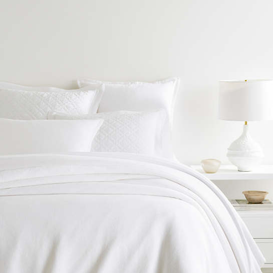 Wilton White Duvet Cover
