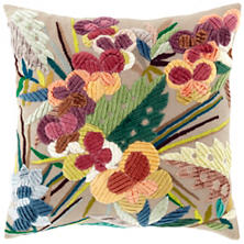 Winged Embroidered  Decorative Pillow