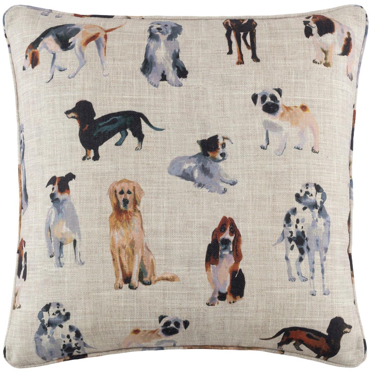 Woof Indoor/Outdoor Decorative Pillow