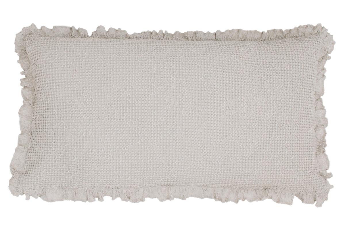 Wruffle Grey Matelassé Decorative Pillow