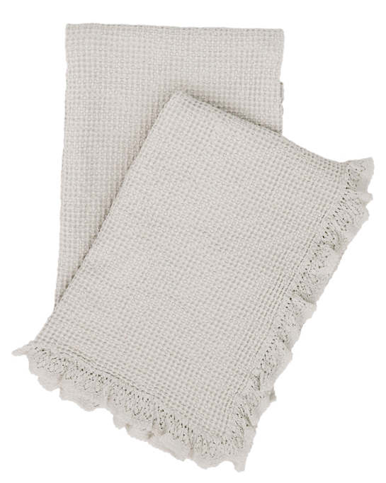 Wruffle Grey Matelassé Throw
