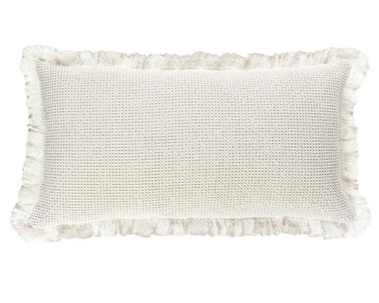 Wruffle Ivory Matelassé Decorative Pillow