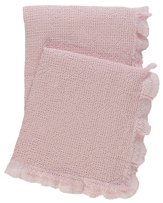 Wruffle Slipper Pink Matelassé Throw