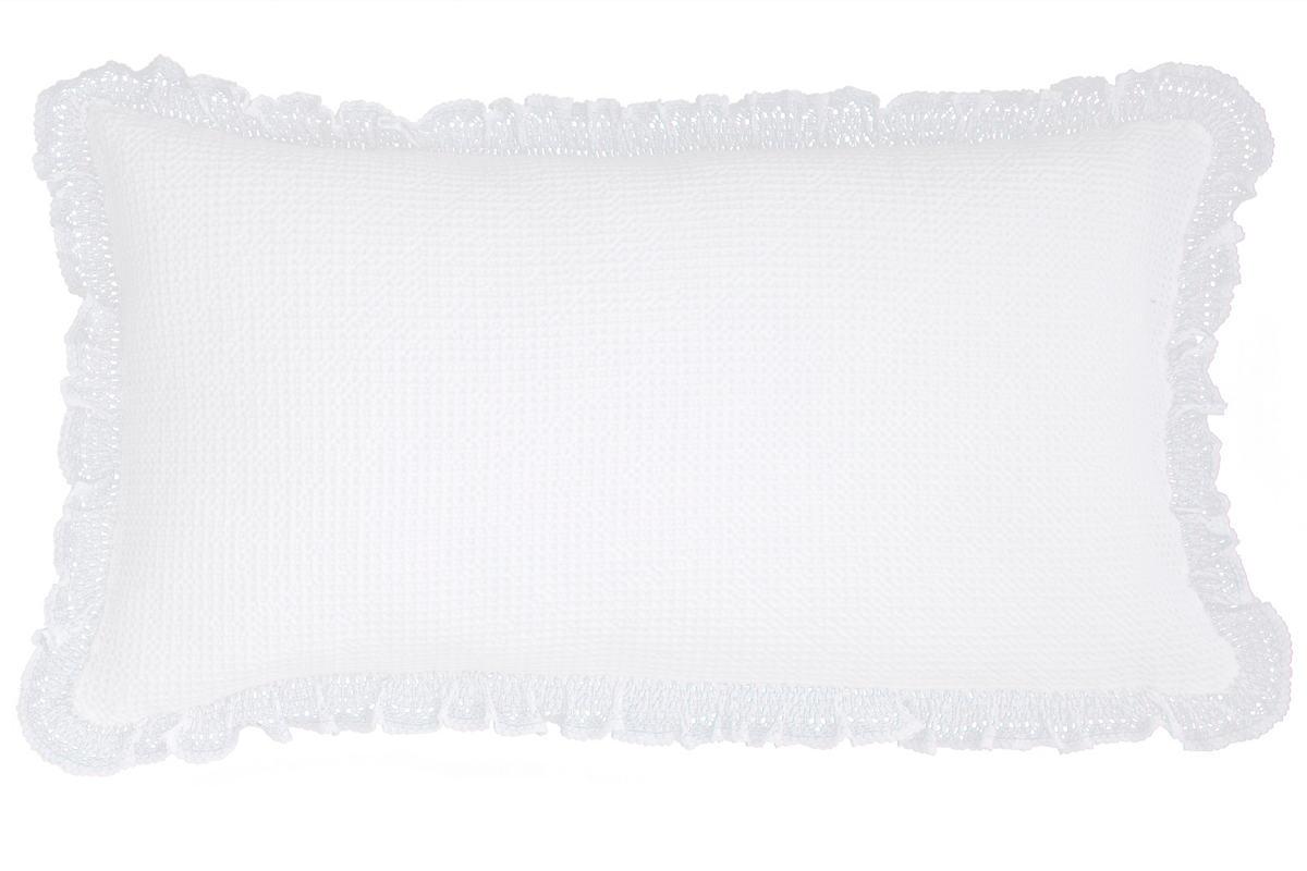 Wruffle White Matelassé Decorative Pillow