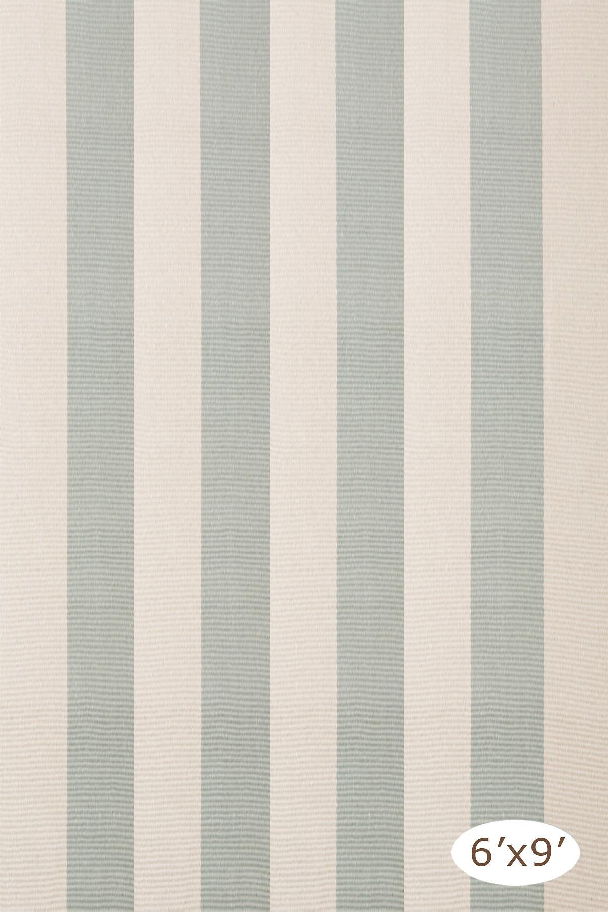 Yacht Stripe Ocean Woven Cotton Rug