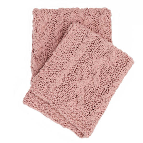 Yarn Bomb Knit Slipper Pink Throw