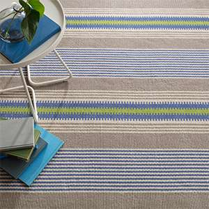 York Stripe Woven Cotton Rug