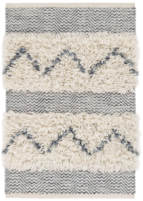 Zags Denim Woven Wool Rug