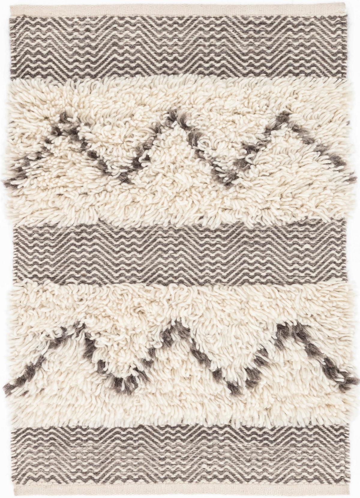 Zags Mocha Woven Wool Rug