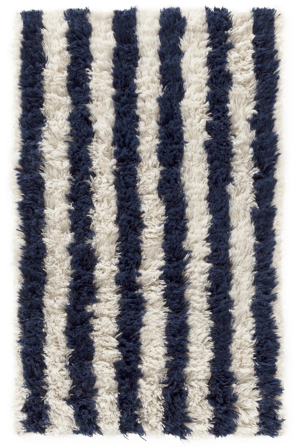 Zaida Navy/Ivory Woven Wool Rug