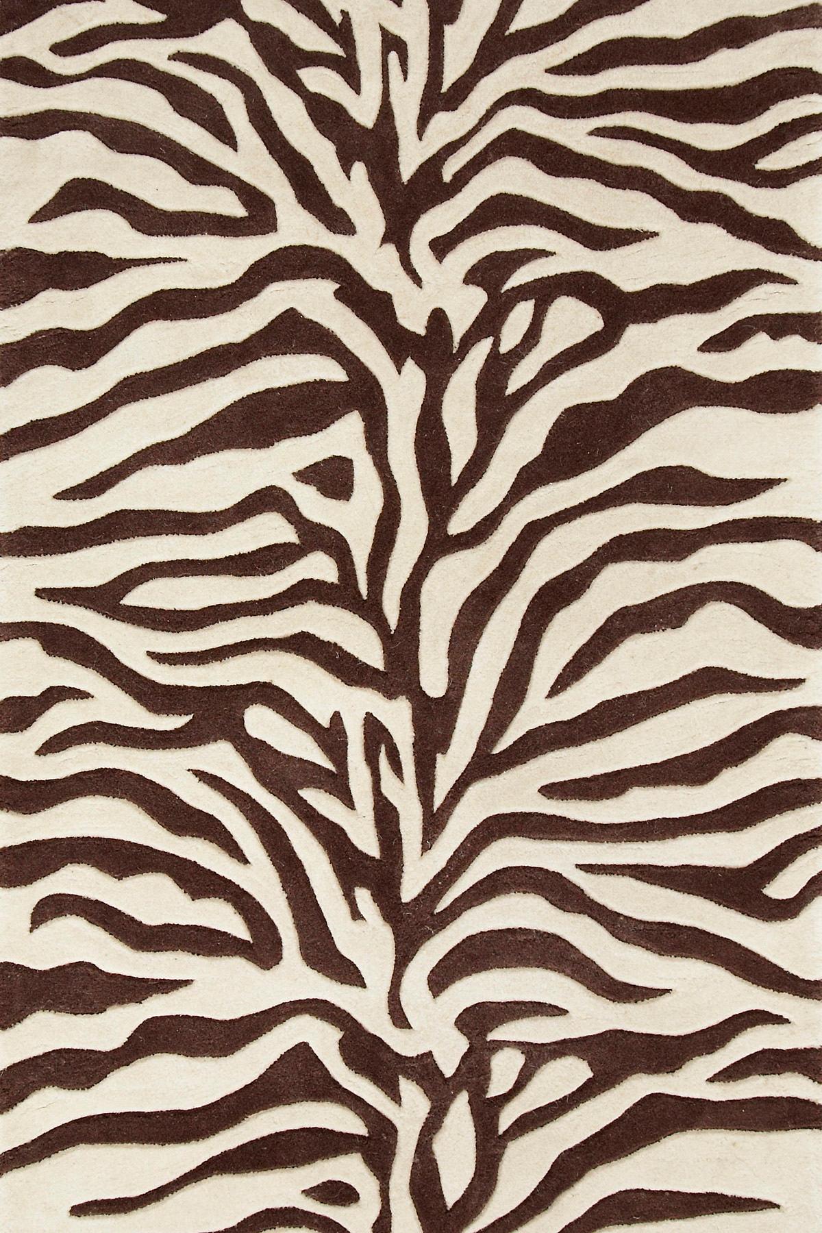 Zebra Tufted Wool Rug