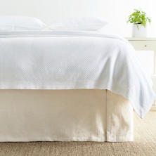 Zen Ivory Bed Skirt