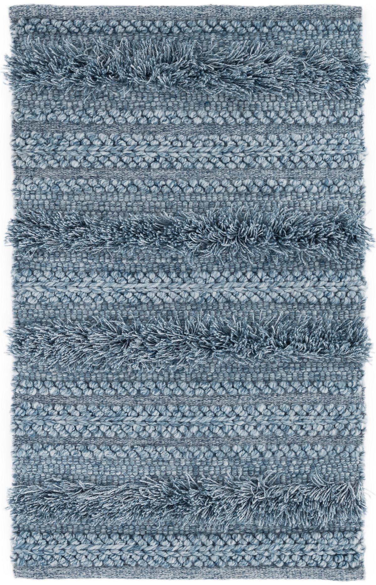 Zhara Stripe Denim Indoor/Outdoor Rug