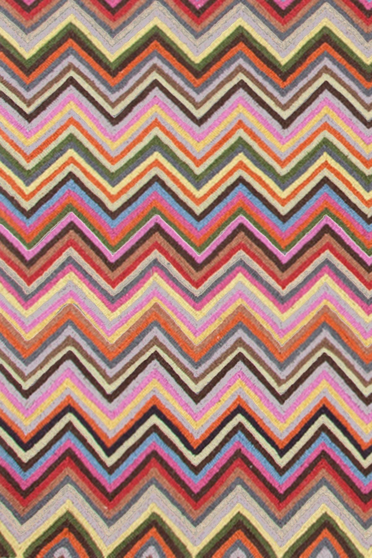 Zigzag Multi Micro Hooked Rug