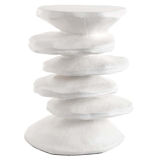 Zuri White Side Table