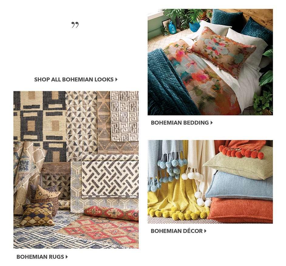 Bohemian Bedding, Rugs, Decor
