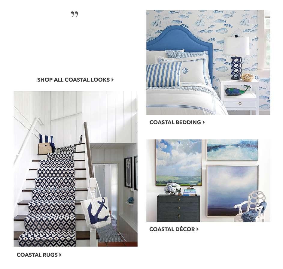 Coastal Bedding, Rugs, Decor