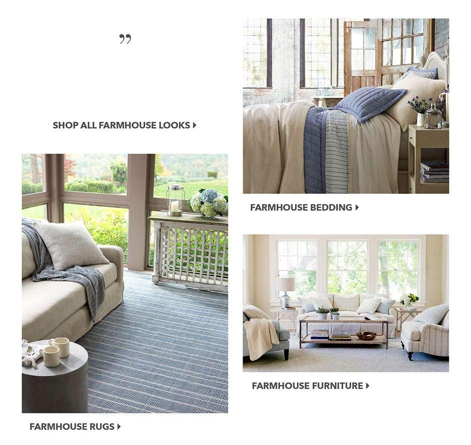 Farmhouse Bedding, Rugs, Decor Styles