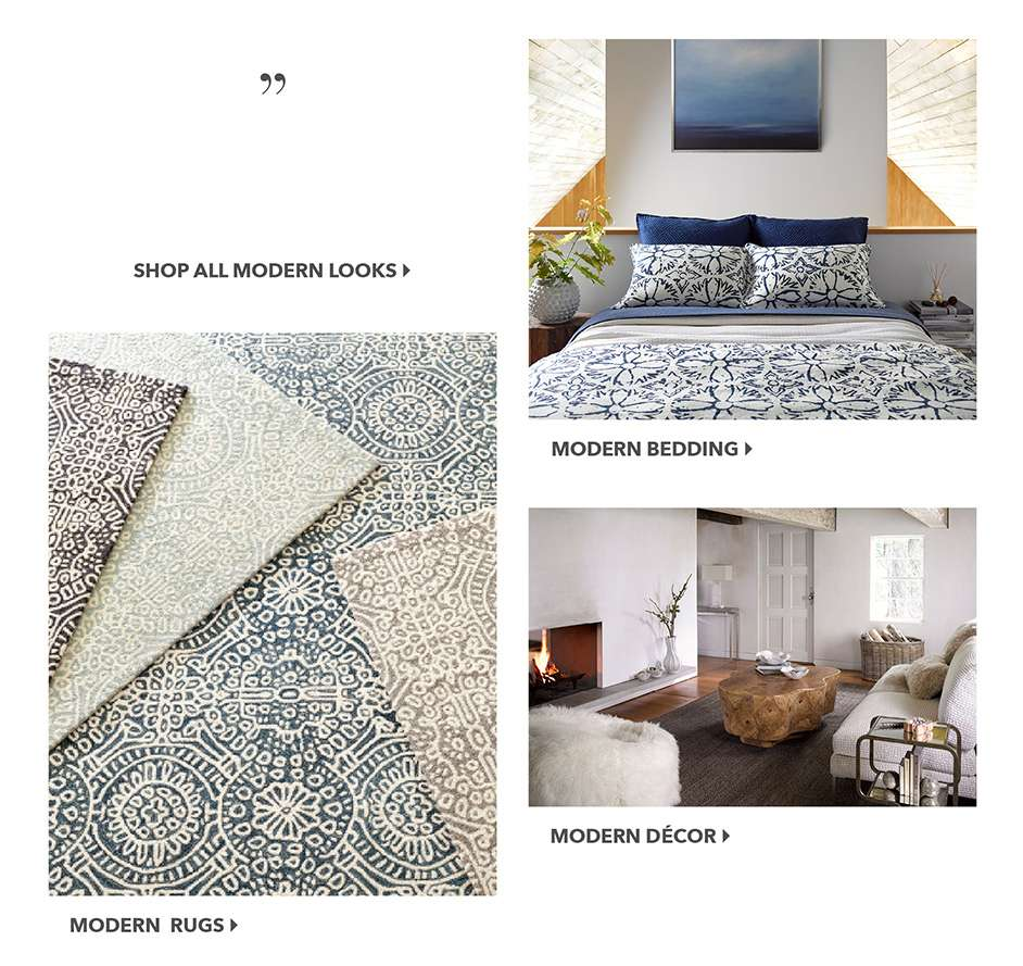 Modern Bedding, Rugs, Decor